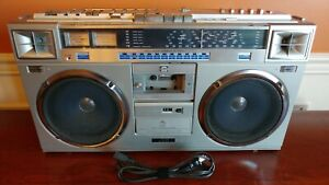 VINTAGE JVC RC-M70JW Stereo Cassette Shortwave Radio Boombox Ghettoblaster Works