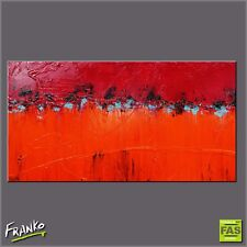 Red Orange Textured Abstract Art Painting Canvas 190cm x 100cm Franko Australia
