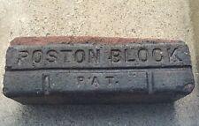 Antique Brick Paver Poston Block Pat W.G. Co Garden Decor Door Stop Brown Clay