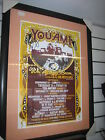 Signed You am I rare one of a kind framed 2003 tour poster whiskey eggs & bacon
