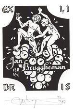 Erotic Ex Libris W. Wuyts : Jan Bruggheman