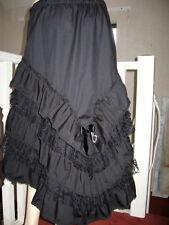 Steampunk Fishtail Skirt Black lace Frilled  boho Rock burlesque festival Gothic