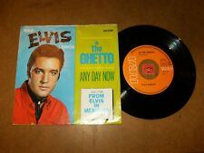 ELVIS PRESLEY - ANY DAY NOW - THE GHETTO - 45 PS GERMANY  / LISTEN - POPCORN