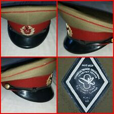Russia Soviet  Red Visor Hat badge MVD Prison Guards
