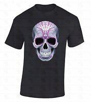8d30b0184 Sugar Skull Pink T-SHIRT Day Of Dead Dia De Los Muertos Evil Death Bones