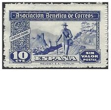 SPAIN 1940s 10c BLUE POSTMAN CINDERELLA Unhinged Mint (SP1u)