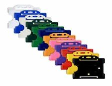 Plastic Rigid Id Card Badge Pass Holder 12 Colours Available Free Pampp