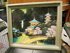 ANTIQUE VINTAGE JAPANESE PAINTING ON SILK JAPAN ORIENTAL ASIAN SIGNED