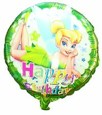 Tinkerbell 45cm Happy Birthday Foil Balloon, Girls Party Decoration