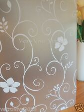 90 CM x 1 M - Lilies Removable Frosted Window Glass Film for privacy