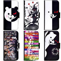 PIN-1 Anime Danganronpa Phone Wallet Flip Case Cover for Apple iPhone