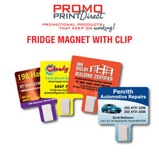 100 Printed Fridge Clip Magnet FREE Artwork & Postage