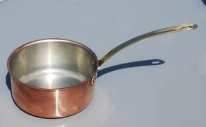 Tagus Chef Portuguese made copper pan saucepan 6 inches across