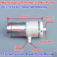 DC 3V~6V 5V Micro Vacuum Pump Mini Small 370 Motor Air Pump Monitor Breast Pump