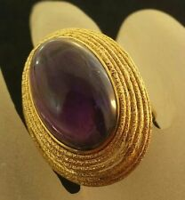 Unbranded Cocktail Amethyst Yellow Gold Fine Rings
