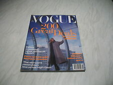 Vogue magazine # 1993 October UK issue Meghan Douglas cover by Neil Kirk