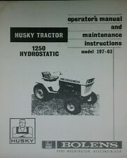 Bolens 1250 Garden Tractor Owner, Parts &, Engine Service Manuals108pg (3 BOOKS)