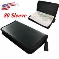 Stores 80pc DVD CD DISC Holder Album Storage Case Folder Carry Organizer Bag Box