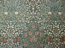 "William Morris Tela De Cortina ""Blackthorn"" 4.7 metros 100% algodón verde (470CM)"