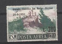 FRANCOBOLLI - 1951 SAN MARINO RICCIONE P.A. L.300 SU 500 MLH E/6411