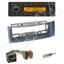 Continental TR7412UB-OR Radio + Renault Megane/Scenic Blende grey + ISO Adapter