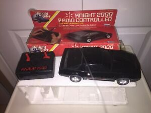 Vintage Original Kenner Knight 2000 Radio Controlled Car And Transmitter In Box