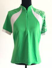 Novara Womens Bike Jersey Shirt Bright Green Short Sleeve Cycling Back Pockets L