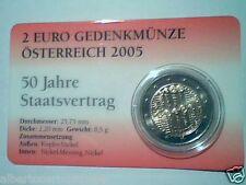 coincard 2 euro 2005 FDC Austria autriche Österreich 50 Staatsvertrag Австрия