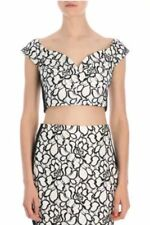 BNWT LIPSY LACE BLACK AND WHITE FLORAL FLOWER PENCIL SKIRT SIZE 14 RRP £40