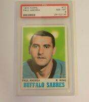 1970 Topps Paul Andrea #77 PSA 8