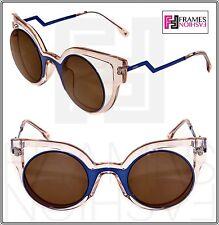 8e58b4336e2 FENDI PARADEYES FF0137S Pink Blue Bronze Mirrored Opaque Sunglasses Optyl  0137