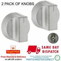 FITS NEW WORLD COOKER OVEN CONTROL HOB KNOB DIAL IN SILVER - 2 PACK