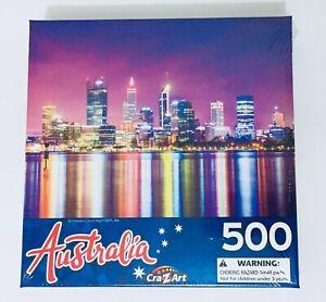 Illuminated City At Night; Perth WA - Australia  500 Piece Jigsaw Puzzle, new