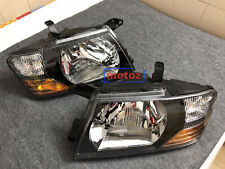 For 2000-2006 Mitsubishi Pajero Montero Left+Right Set Front Head Lamps Lights