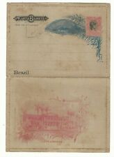 Brazil: Postal stationery with reponse with rust. BR21