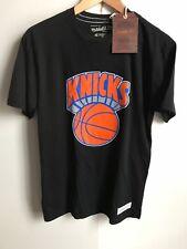 Mitchell and Ness New York Knicks NBA équipe Logo T-shirt-Petit (s) - noir-Neuf