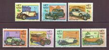 Vietnam, Set of 7, Antique Cars, Cancelled to Order hinged, 1985