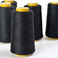 4x Large 5000yds Polyester Overlocking Thread White