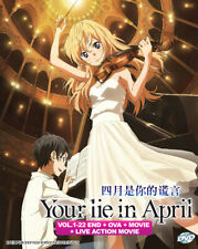 Your Lie In April (Vol.1-22 End + OVA + Live Action movie) DVD