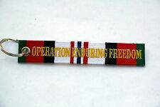 OPERATION ENDURING FREEDOM OEF KEYCHAIN PATCH US ARMY MARINES NAVY AIR FORCE WOW