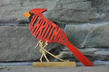 Red Cardinal Bird  Amish Made Wood Toy Puzzle  Animal