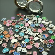 50Pcs Lots Mixed Floating Charms For DIY Locket Necklace Glass Living Memory