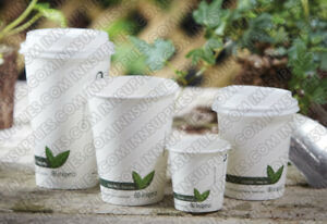 50/1000 Biodegradable Paper Cups Coffee Compostable Disposable Tea (4,8,12,16oz)