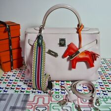 HERMÉS KELLY  BAG 35 DRAGEE RETOURNÉ SWIFT PALLADIUM HARDWARE