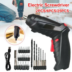 3.6V Portable Cordless Electric Screwdriver with Light Screwdriver Power Tools