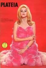 Plateia Magazine 1966 Portugal Ann-Margret  Pink Fur Wrap with Diamond Bracelet