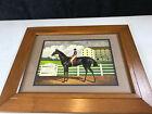 """vtg Charles Wysocki Jockey Horse The Winner 11.75"""" x 8.75"""" Frame 16.5"""" x 20.5"""""""