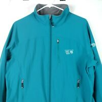 Mountain Hardwear Womens Softshell Windbreaker Jacket Sz XL Teal Blue