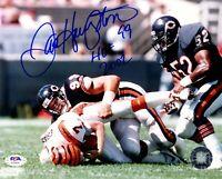 Dan Hampton autographed signed inscribed 8x10 photo NFL Chicago Bears PSA COA