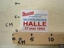 STICKER,DECAL HALLE NK MOTOCROSS 17 MEI 1992 MOTOCROSS MX CROSS